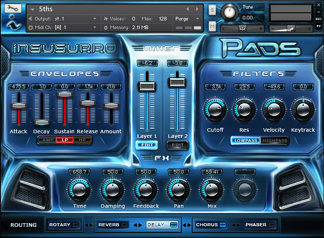 Pads – for NI Kontakt 5.2 For Only $39 – Insusurro Ltd
